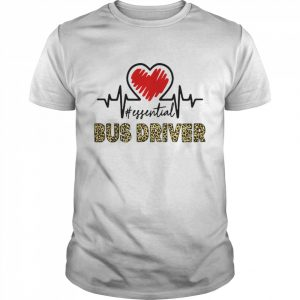 Bus Driver Heart Beat Leopard  Classic Men's T-shirt
