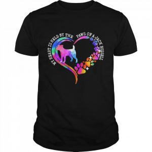 My heart is held by the paws of a jack russell 2021  Classic Men's T-shirt